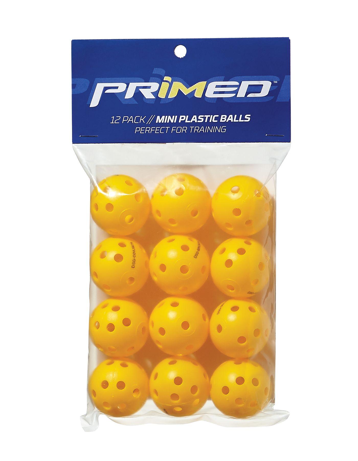 PRIMED Mini Plastic Training Balls - 12 Pack