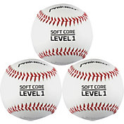 PRIMED Soft Core Level 1 Baseballs - 3 Pack