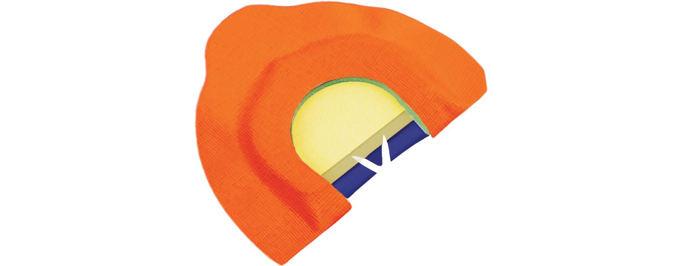 Primos A-Frame Triple Diamond Cut Mouth Turkey Call
