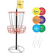 Park & Sun Sports Portable Disc Golf Basket and Disc Set