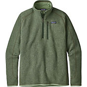 Patagonia Men's Better Sweater 1/4 Zip Fleece Pullover in Matcha Green