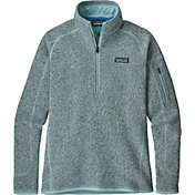 Patagonia Women's Better Sweater Quarter Zip Fleece Jacket in Atoll Blue