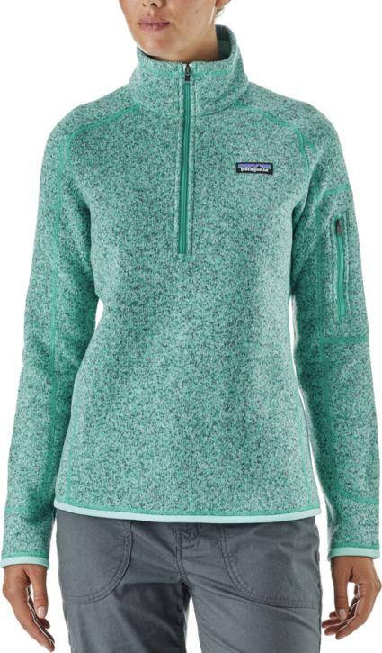 Patagonia Women s Better Sweater Quarter Zip Fleece Jacket  2d677e678a