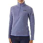 Patagonia Women's Better Sweater Quarter Zip Fleece Jacket in Light Violet Blue