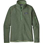 Patagonia Women's Better Sweater Quarter Zip Fleece Jacket in Matcha Green