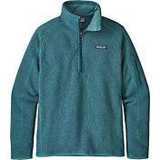Patagonia Women's Better Sweater Quarter Zip Fleece Jacket in Tasmanian Teal