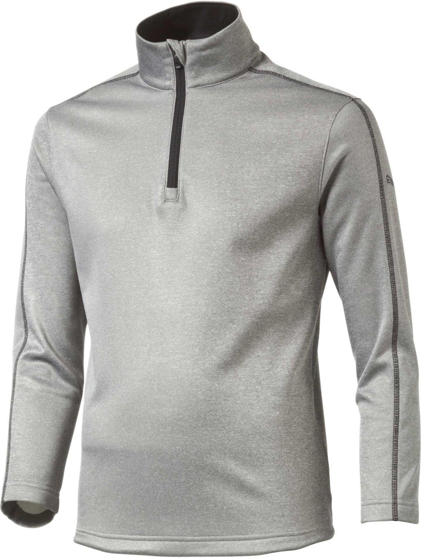 PUMA Boys' Core Fleece Quarter-Zip Golf Pullover