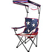 Quik Shade US Flag Adjustable Canopy Folding Chair
