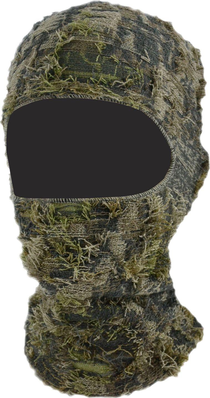 QuietWear 3D Grassy Camo Facemask, Men's, Brown