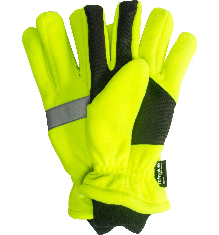 QuietWear Men's High Vis Waterproof Fleece Gloves