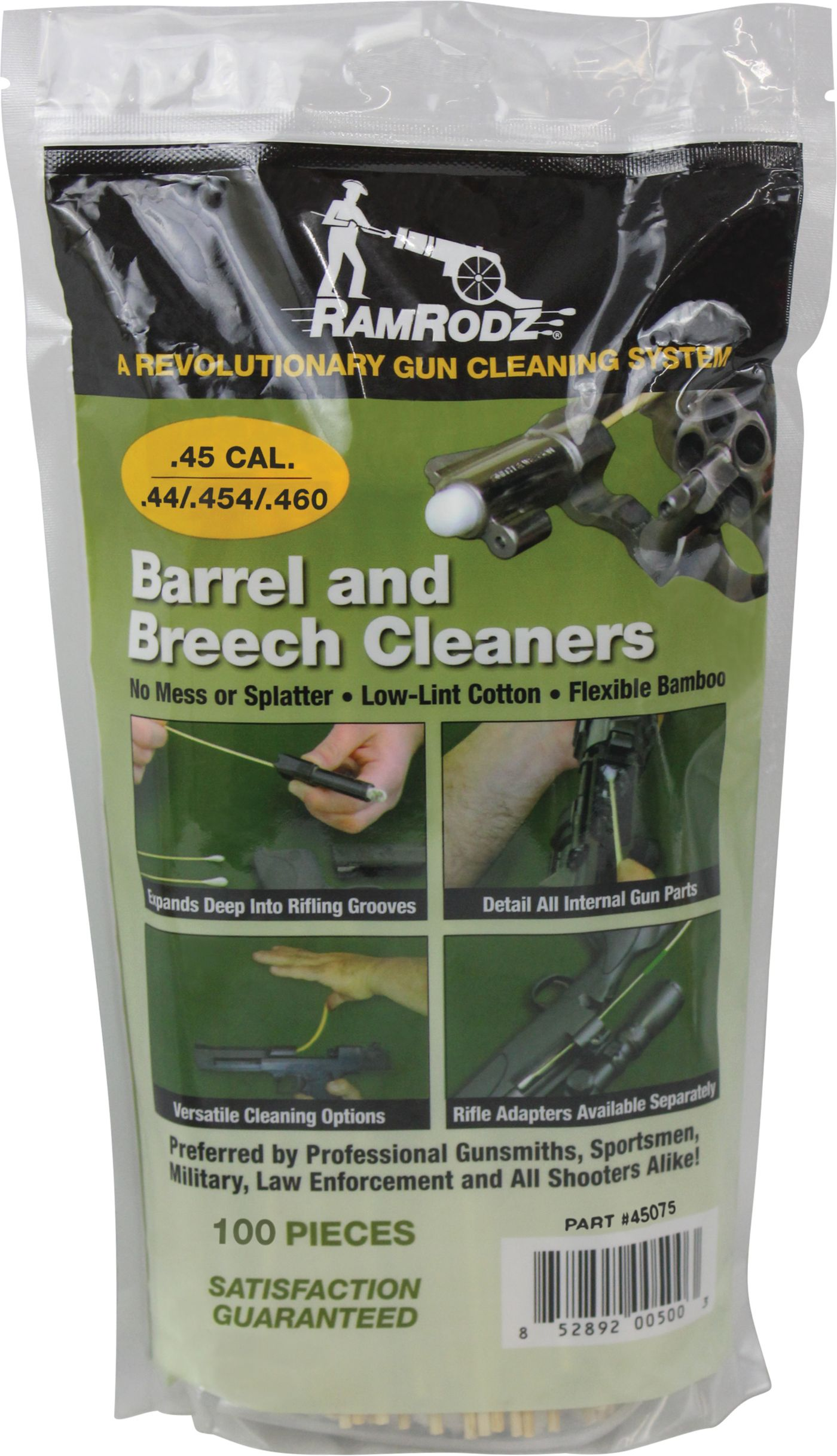 RamRodz Gun and Barrel Cleaners – .44/.45/.410