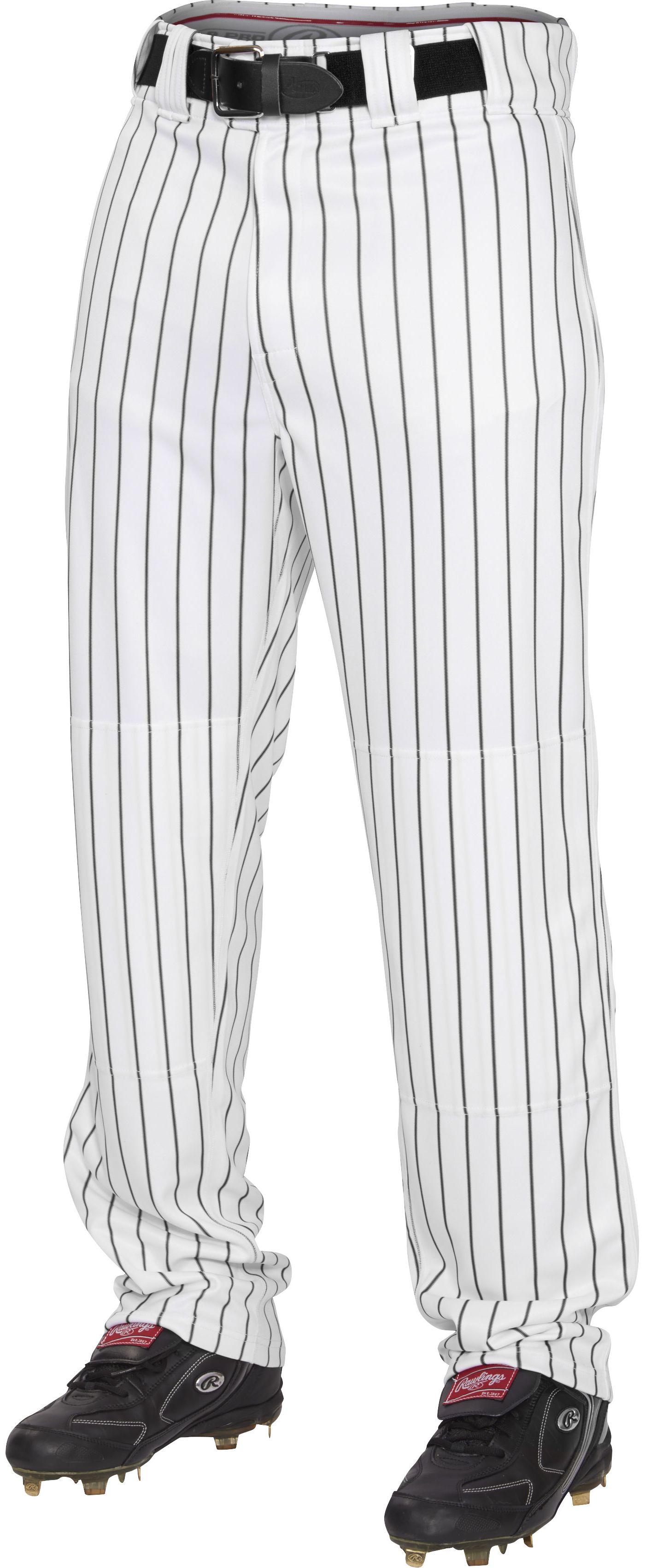 Rawlings Men's Plated Insert Pinstripe Baseball Pants