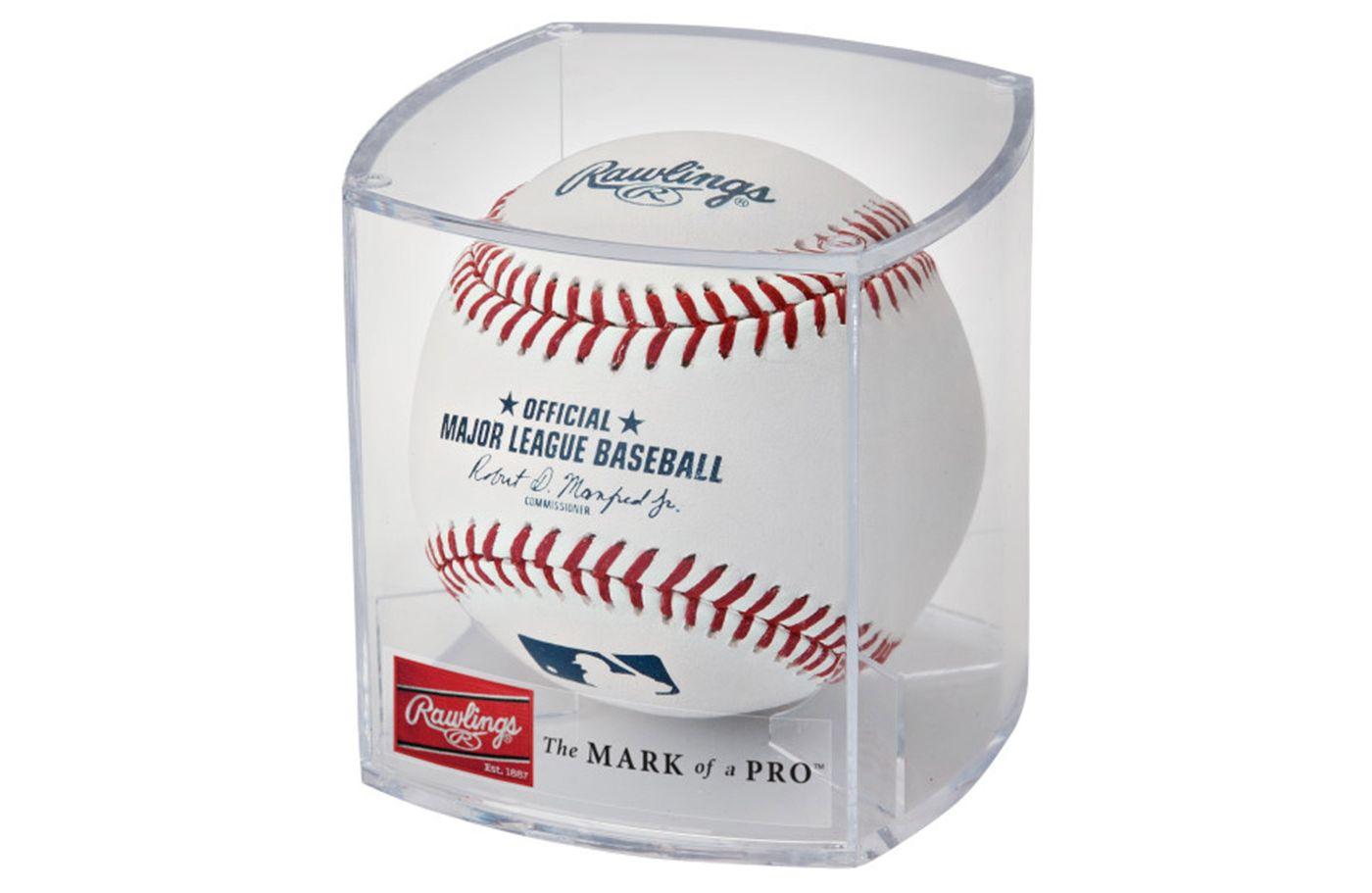 Rawlings MLB Official Game Baseball w/ Display Case