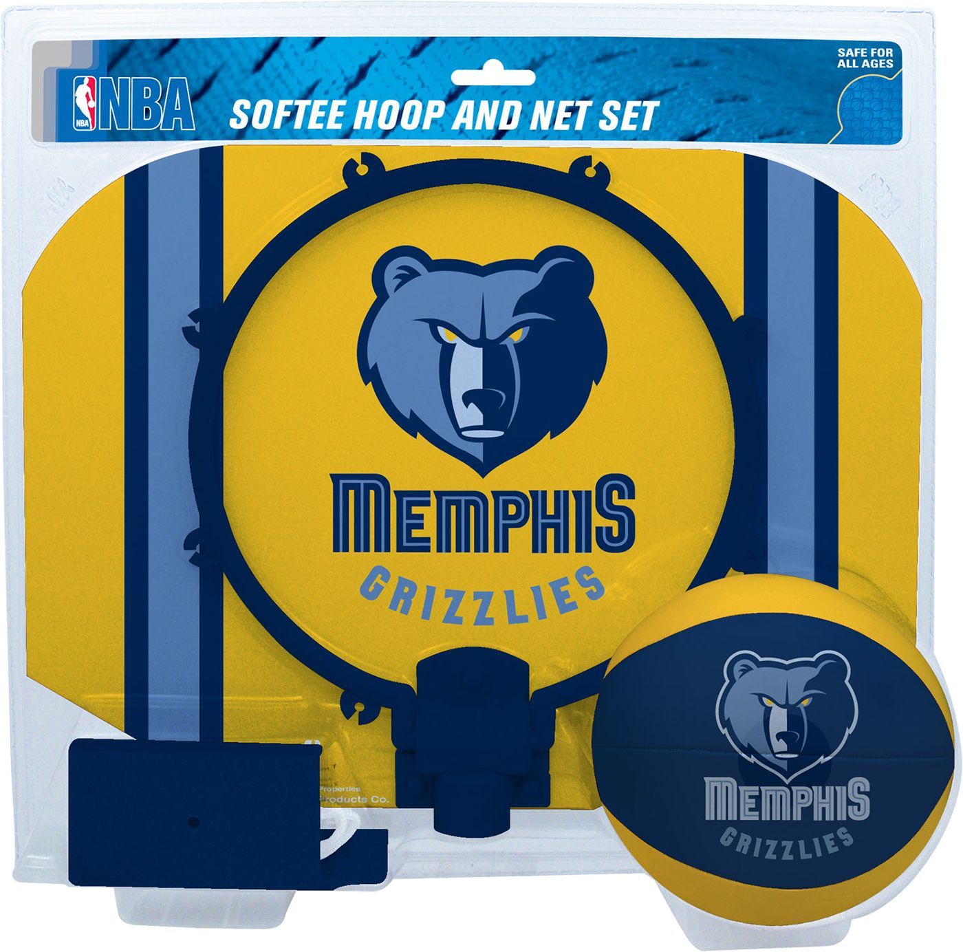 Rawlings Memphis Grizzlies Softee Basketball Hoop and Ball Set