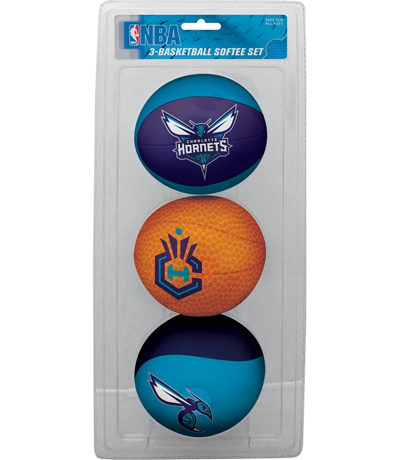 Rawlings Charlotte Hornets Softee Basketball 3-Ball Set