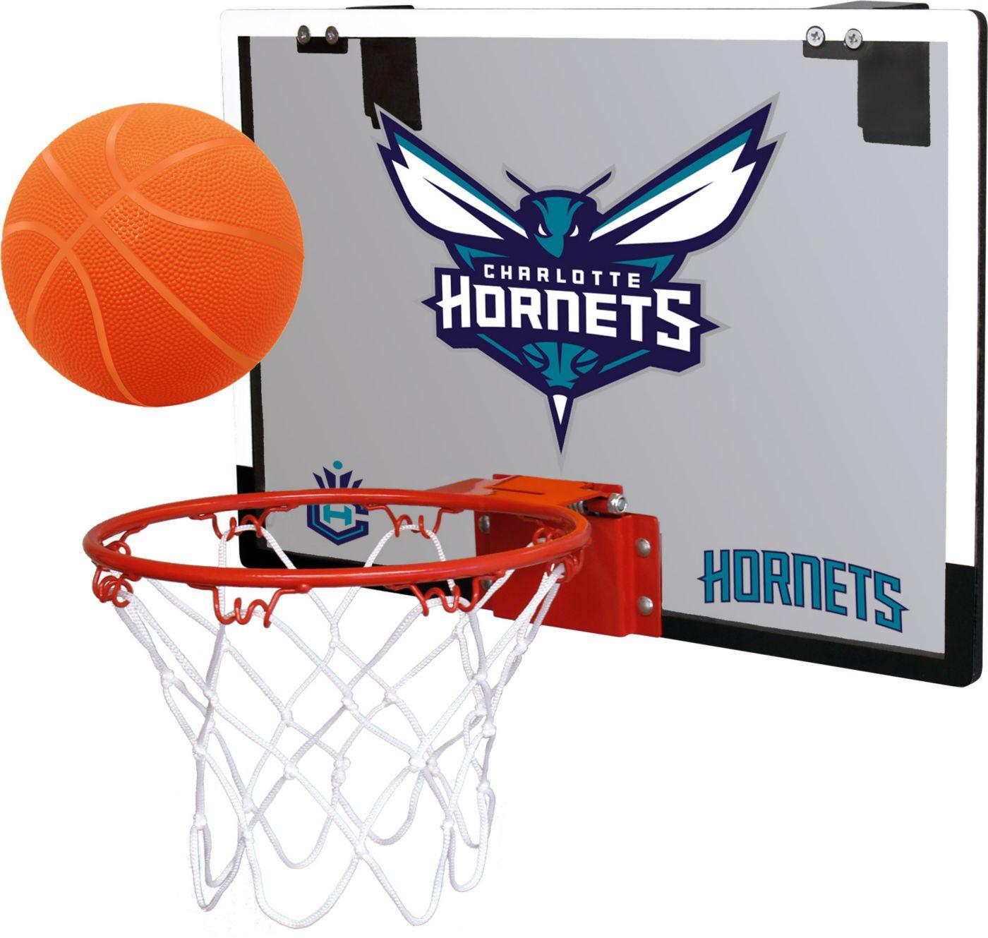 Rawlings Charlotte Hornets Game On Polycarbonate Hoop Set