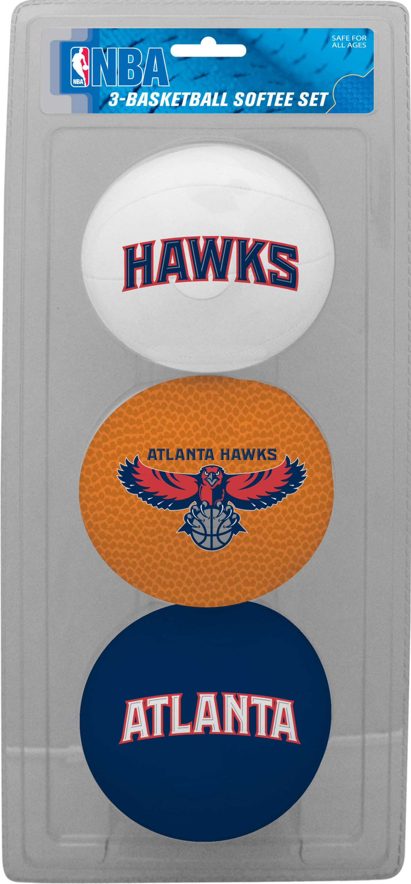 Rawlings Atlanta Hawks Softee Basketball-Three Ball Set