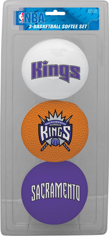 Rawlings Sacramento Kings Softee Basketball 3-Ball Set