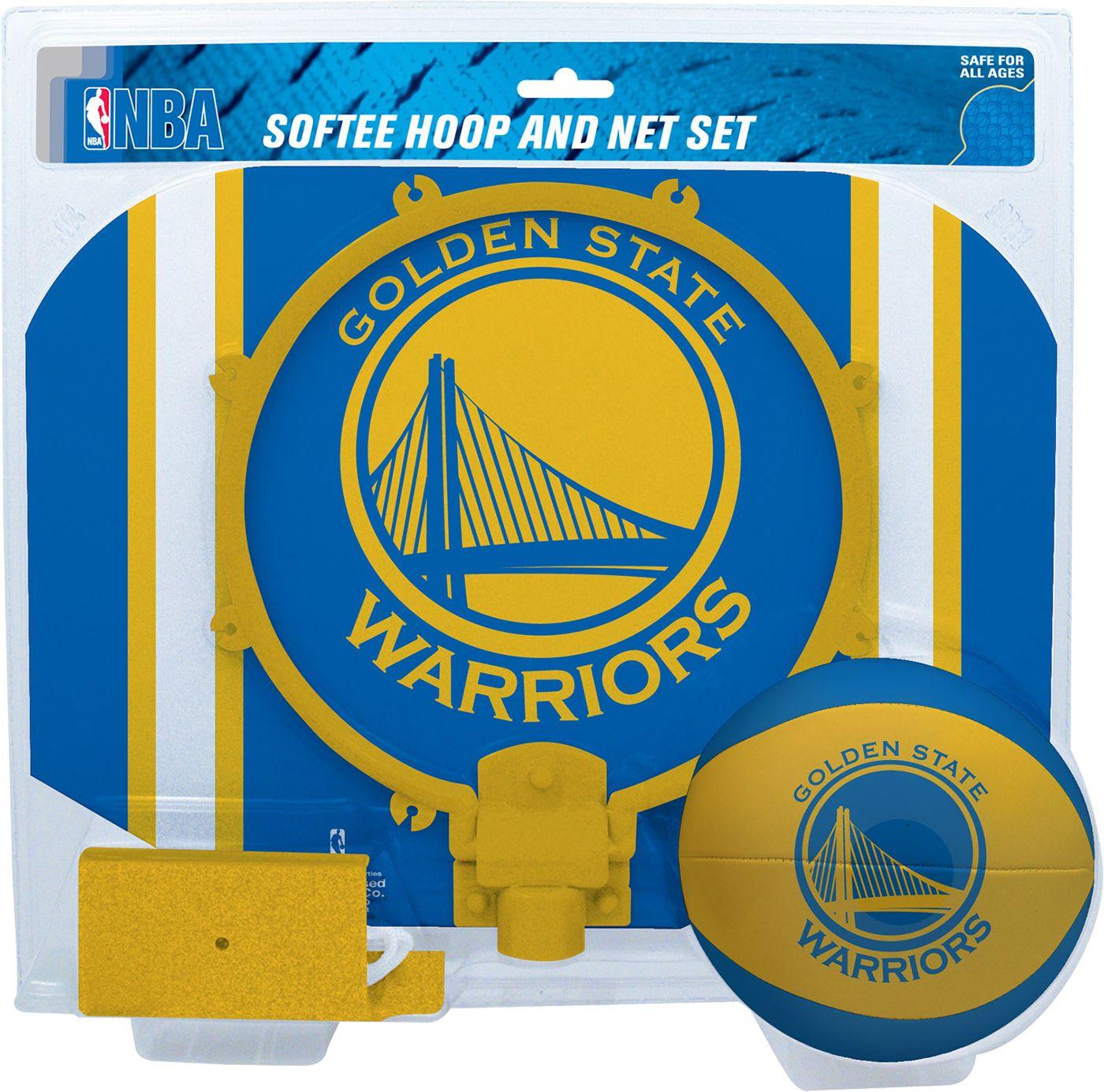 Rawlings Golden State Warriors Softee Basketball Hoop and Ball Set