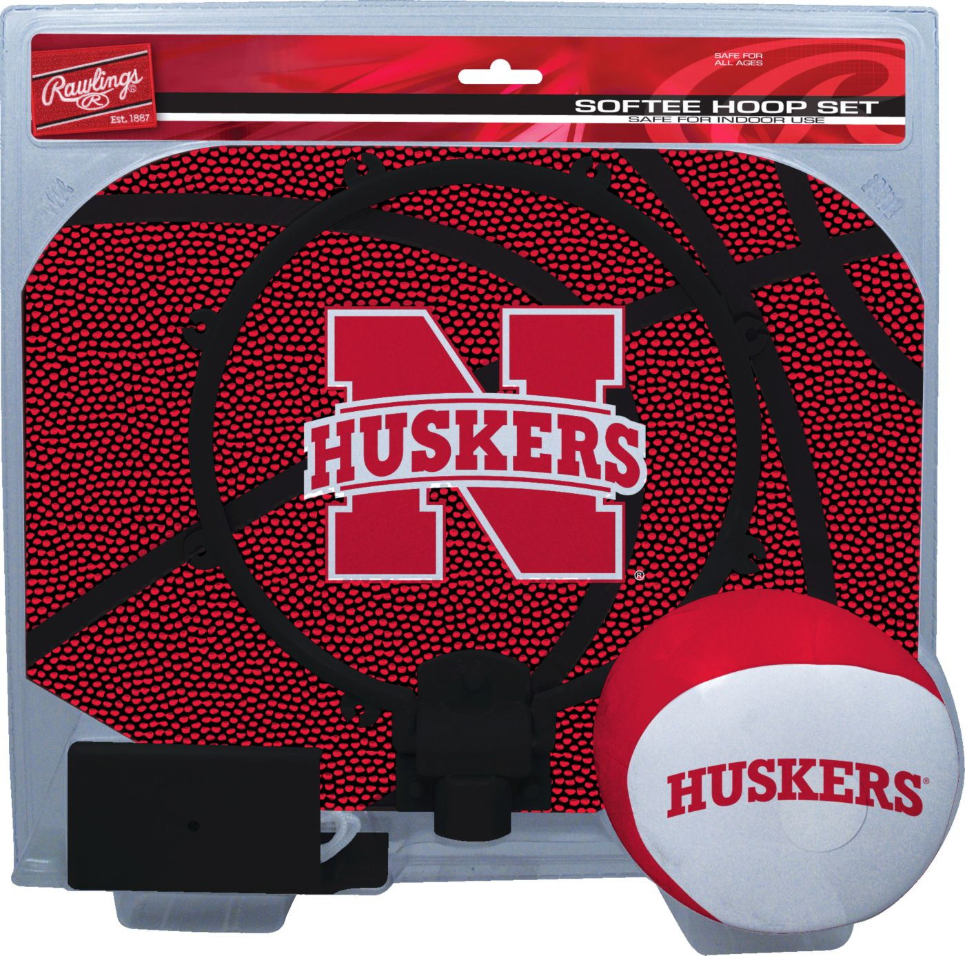 Rawlings Nebraska Cornhuskters Softee Hoop Set