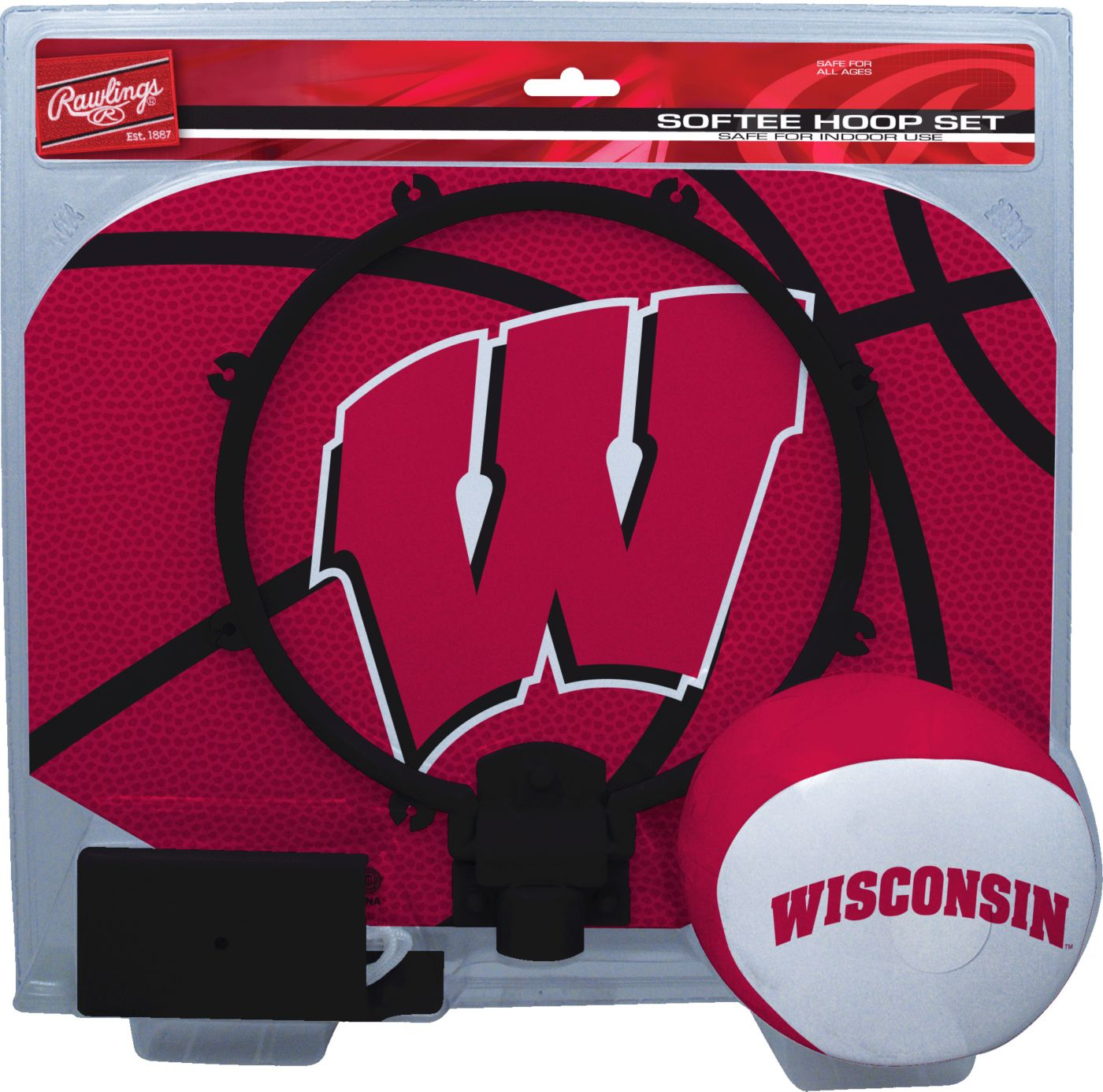 Rawlings Wisconsin Badgers Softee Hoop Set
