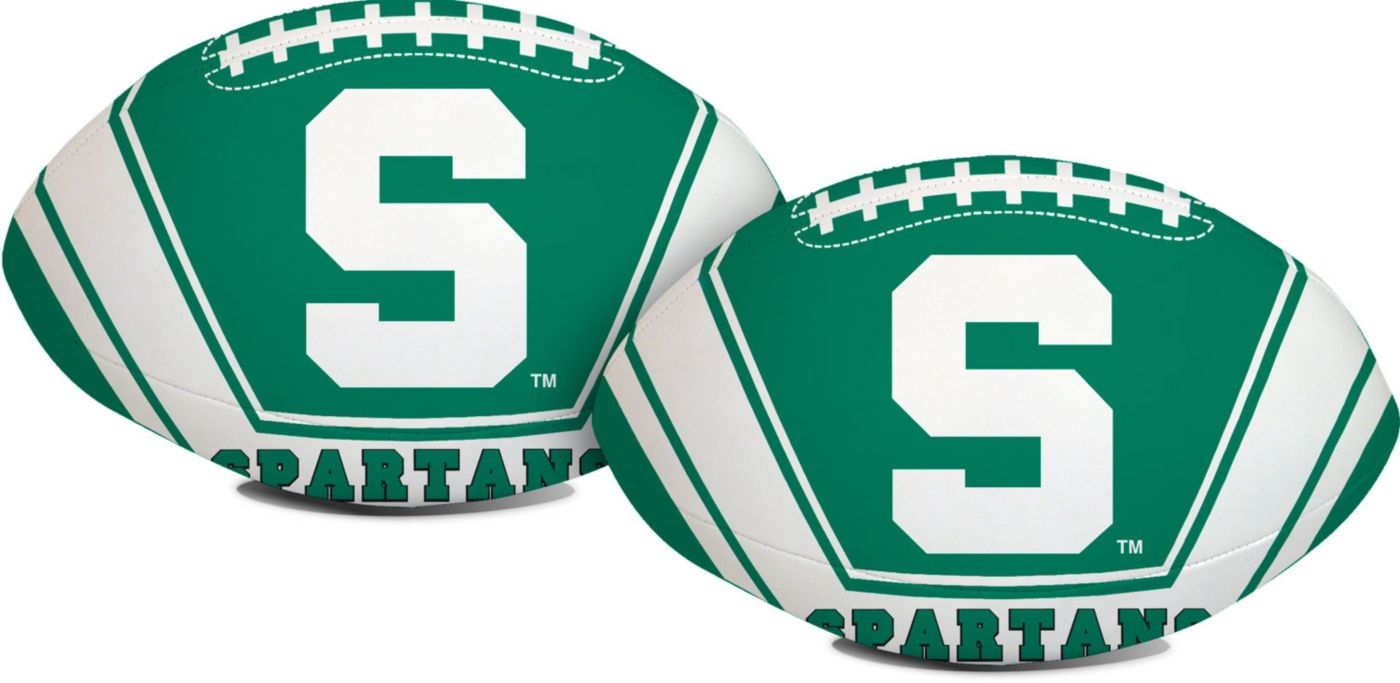 """Rawlings Michigan State Spartans Goal Line 8"""" Softee Football"""