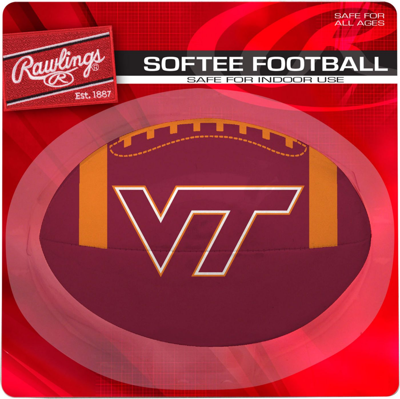 Rawlings Virginia Tech Hokies Quick Toss Softee Football