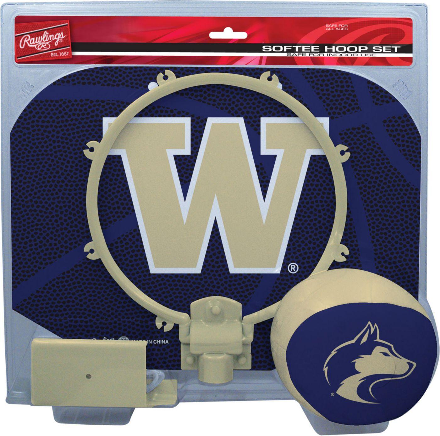 Rawlings Washington Huskies Slam Dunk Basketball Softee Hoop Set