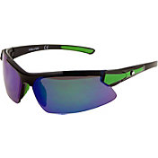 Rawlings Youth 107 Black Green Mirror Baseball Sunglasses