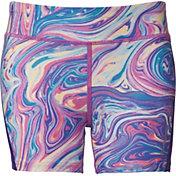 Reebok Girls' 3'' Printed Compression Shorts