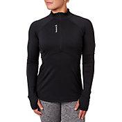 Reebok Women's Cold Weather Quarter Zip Long Sleeve Shirt