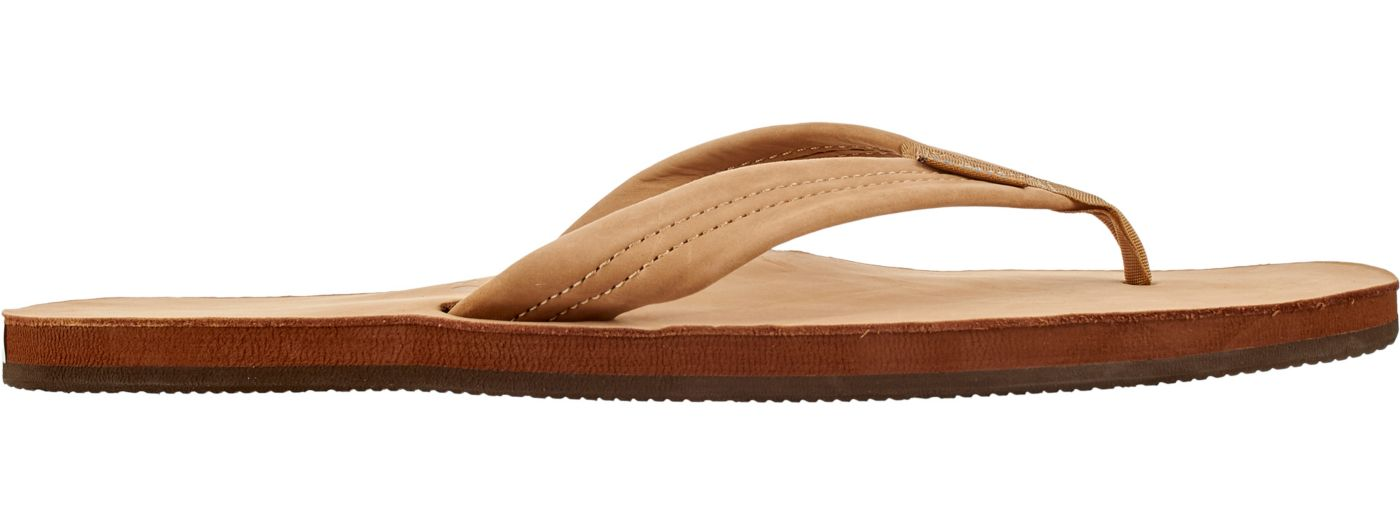 Rainbow Men's Single Layer Premier Leather Flip Flops