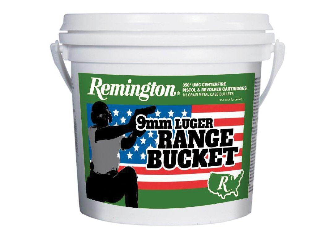 Remington 9mm Luger Range Bucket Handgun Ammunition