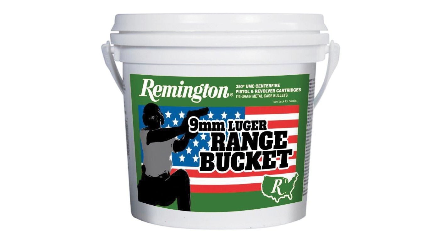 Remington 9mm Luger Range Bucket Handgun Ammunition