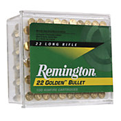 Remington Golden Bullet .22 LR PLRN Rimfire Rifle Ammunition – 100 Rounds