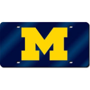 Rico Michigan Wolverines Blue Laser Tag License Plate