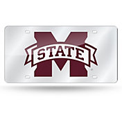 Rico Mississippi State Bulldogs Silver Laser Tag License Plate