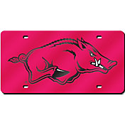 Rico Arkansas Razorbacks Red Laser Tag License Plate