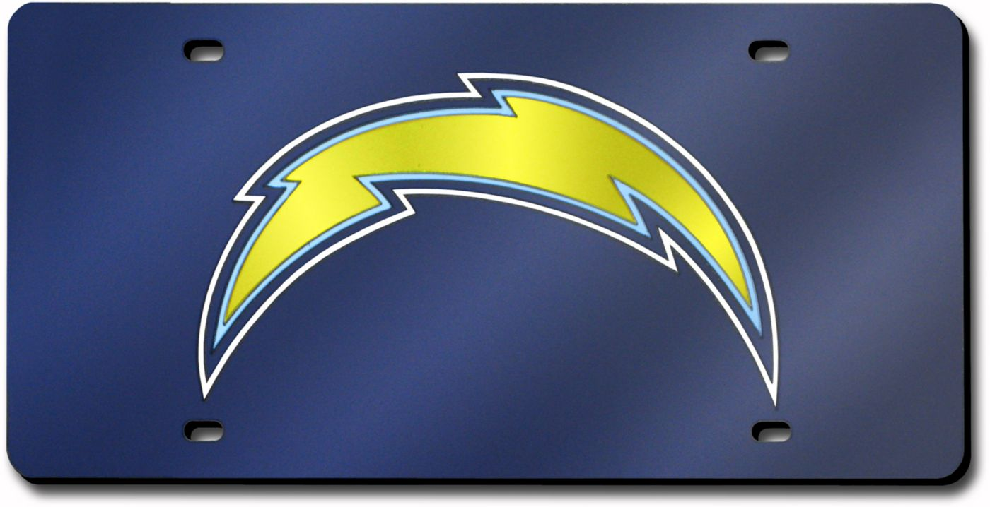 Rico Los Angeles Chargers Blue Laser Tag License Plate