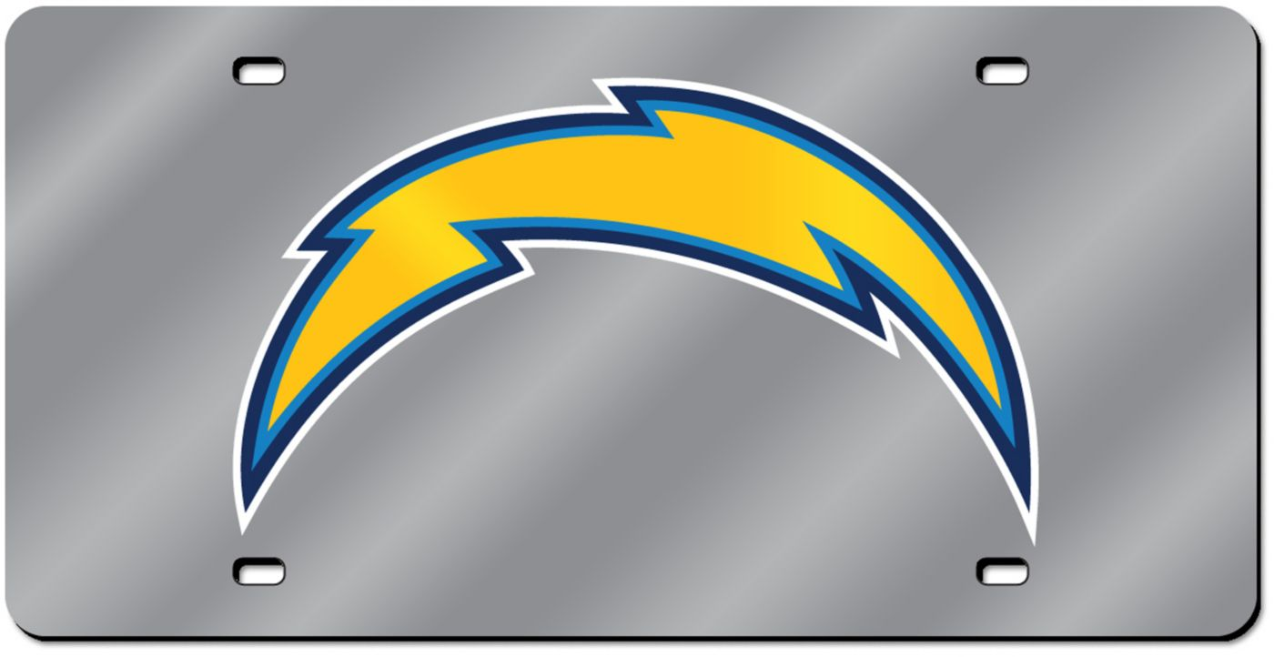 Rico Los Angeles Chargers Silver Laser Tag License Plate