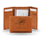Rico NFL Miami Dolphins Embossed Tri-Fold Wallet