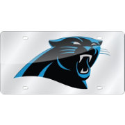 Rico Carolina Panthers Silver Laser Tag License Plate