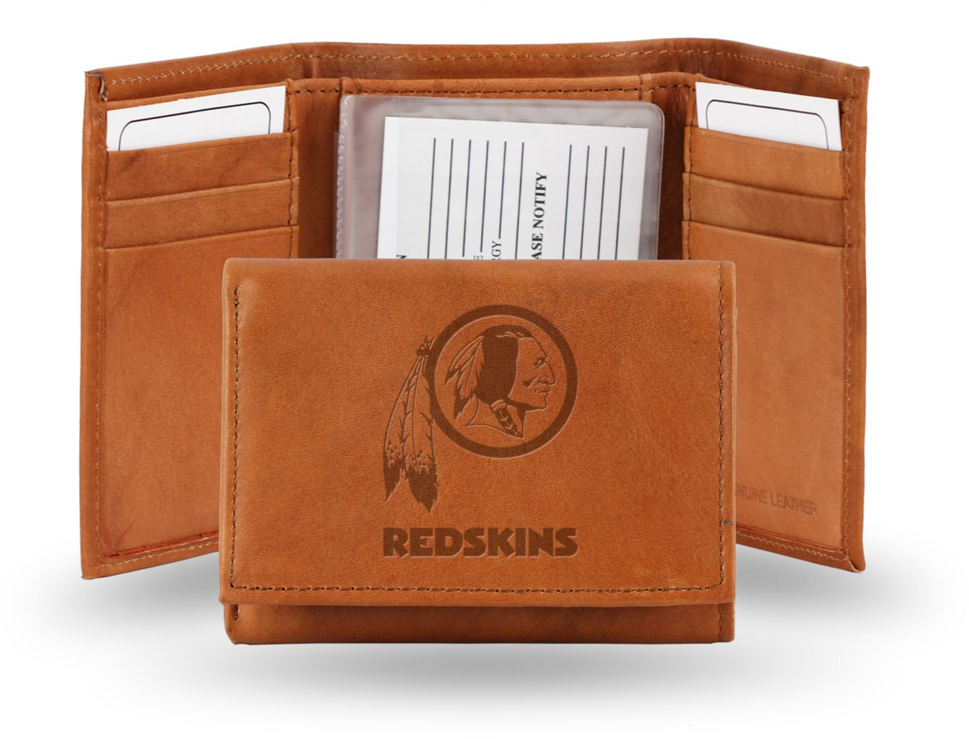 Rico NFL Washington Redskins Embossed Tri-Fold Wallet