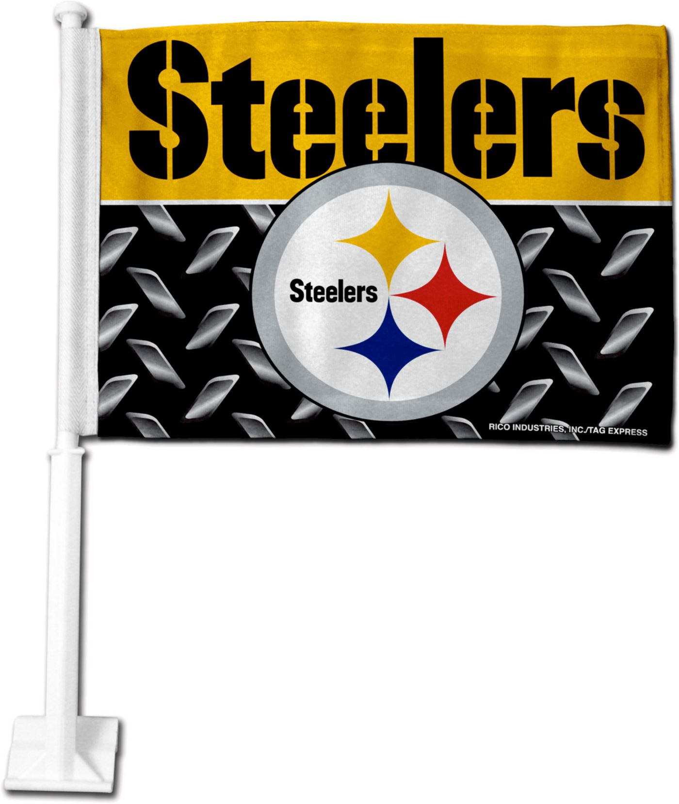 Rico Pittsburgh Steelers Car Flag