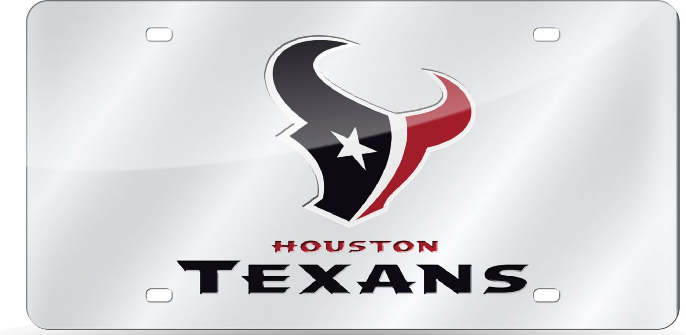 Rico Houston Texans Silver Laser Tag License Plate