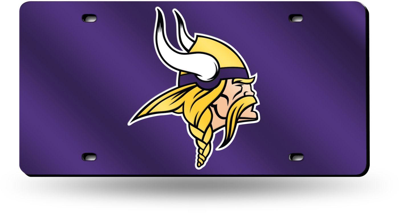 Rico Minnesota Vikings Purple Laser Tag License Plate