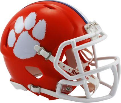 e4e0baf96eed Riddell Clemson Tigers Speed Mini Football Helmet. noImageFound