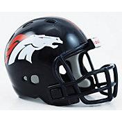 Riddell Denver Broncos Pocket Size Color Chrome Helmet