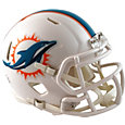 Riddell Miami Dolphins Mini Speed Football Helmet