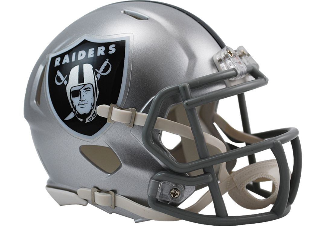 cozy fresh adcf2 1ea6e Riddell Oakland Raiders Speed Mini Football Helmet
